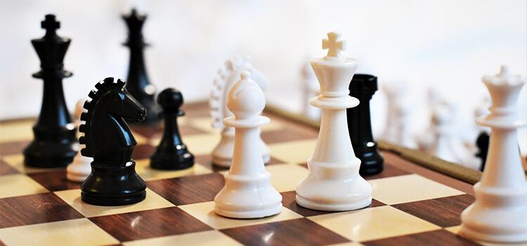 チェス盤の激戦区